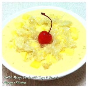 Chilled Mango Puree with Sago & Pomelo