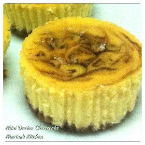 Mini Durian Cheesecake