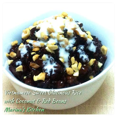 ... Sticky+Rice Vietnamese Sweet Glutinous Rice with Coconut & Red Beans
