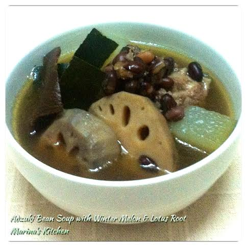 Adzuki Bean Soup with Winter Melon & Lotus Root