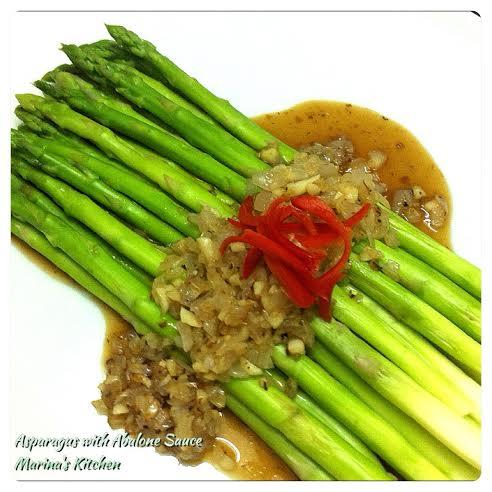 Asparagus with Abalone Sauce