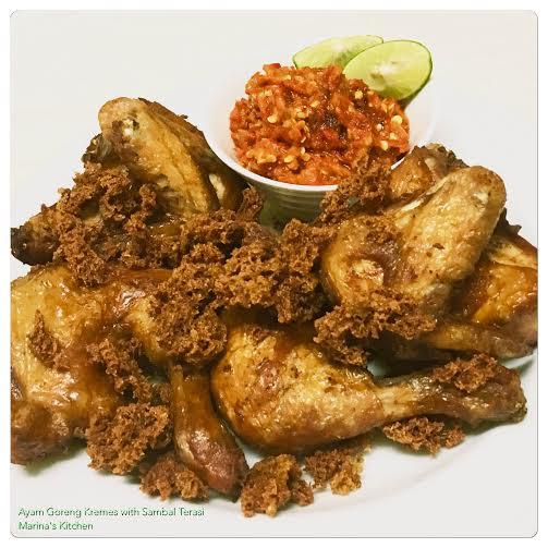ayam-goreng-kremes-with-sambal-terasi