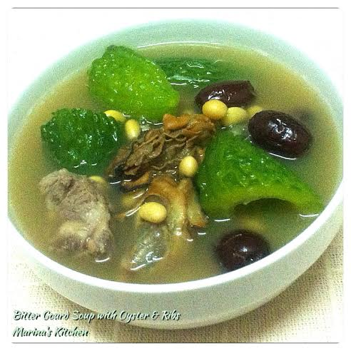 Bitter Gourd Soup with Oyster & Ribs