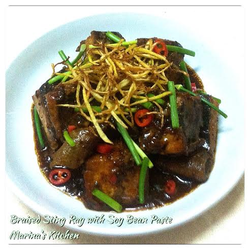 Braised Sting Ray with Soy Bean Paste