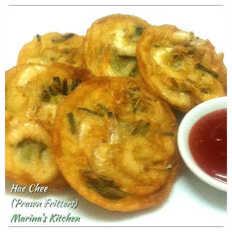 Hae Chee (Prawn Fritters)