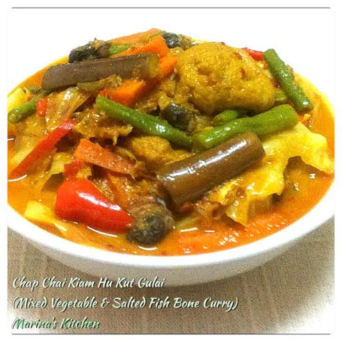 Mixed Vegetable & Salted Fish Bone Curry