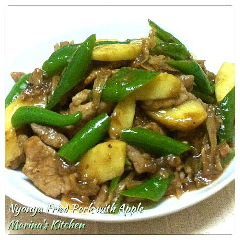 Nyonya Fried Pork with Apple