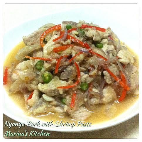 Nyonya Pork with Shrimp Paste