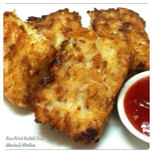 Pan Fried Radish Cake