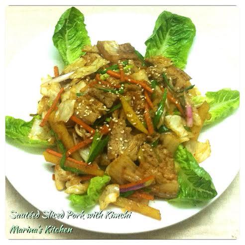 Sauteed Sliced Pork with Kimchi