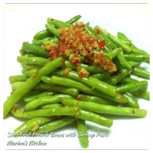 Stir-Fried French Beans with Shrimp Paste