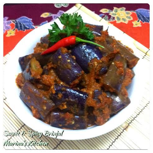 Sweet & Spicy Brinjal