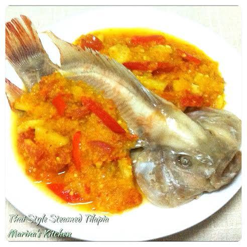 Thai Style Steamed Tilapia | Marina's Kitchen