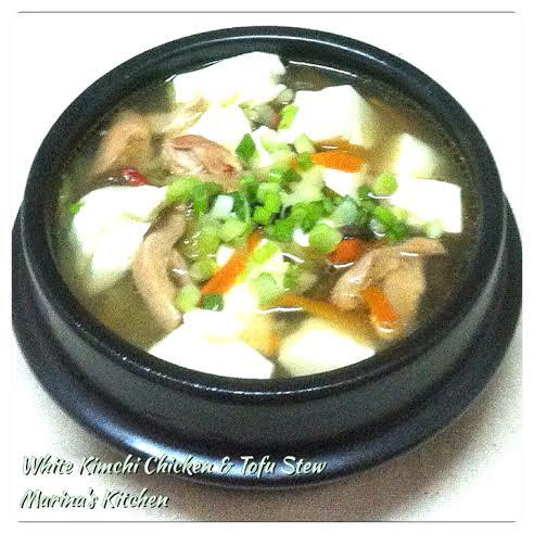 White Kimchi Chicken & Tofu Stew