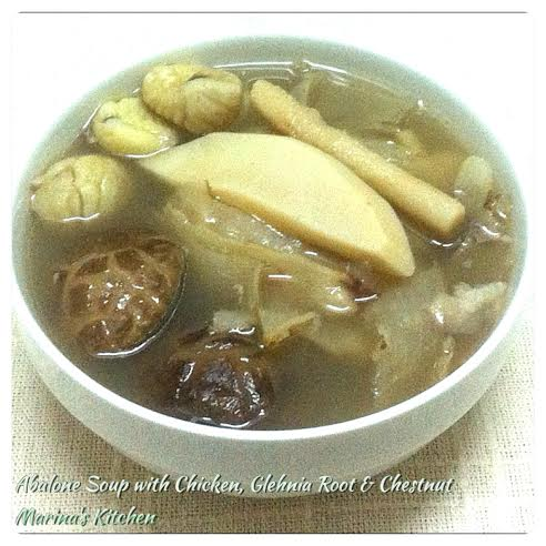 Abalone Soup with Chicken, Glehnia Root & Chestnut