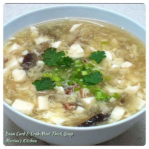 Bean Curd & Crab Meat Thick Soup