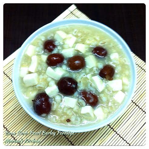 Bean Curd-Pearl Barley Porridge