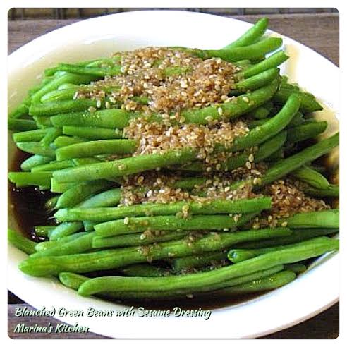 Blanched Green Beans with Sesame Dressing
