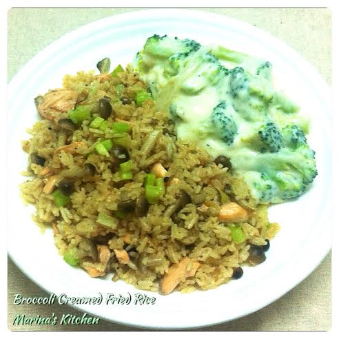 Broccoli Creamed Fried Rice