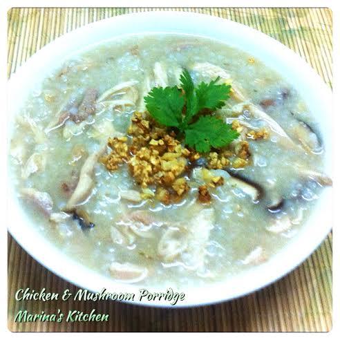 Chicken & Mushroom Porridge