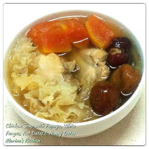 Chicken Soup with Papaya, White Fungus, Red Dates & Honey Dates