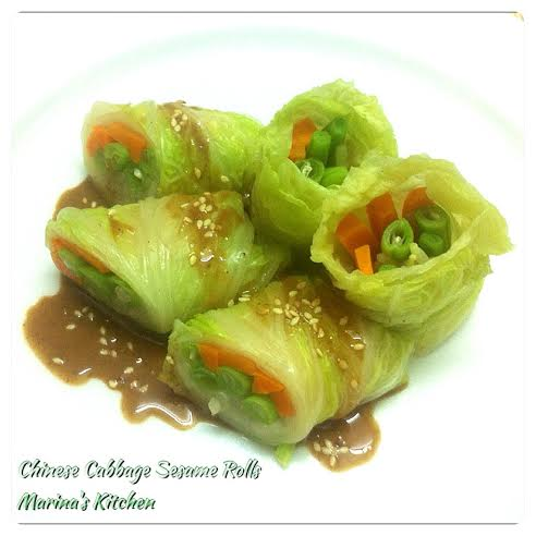 Chinese Cabbage Sesame Rolls