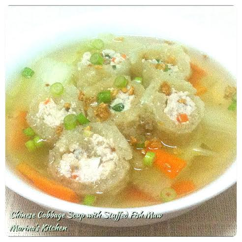 Chinese Cabbage Soup with Stuffed Fish Maw
