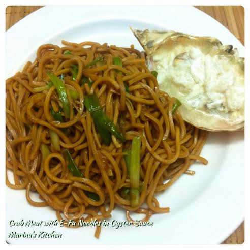 Crab Meat with E-Fu Noodles in Oyster Sauce