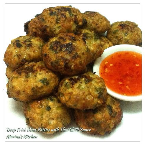 Deep Fried Meat Patties with Thai Chilli Sauce
