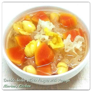 Double-boiled White Fungus with Papaya