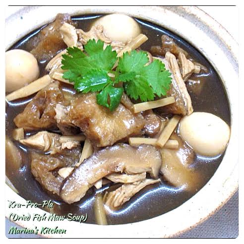 Dried Fish Maw Soup