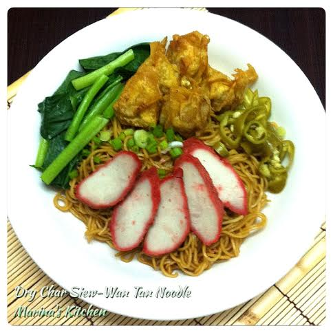 Dry Char Siew-Wan Tan Noodle
