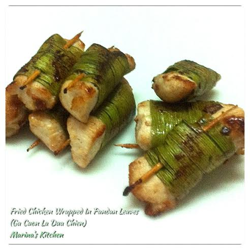 Fried Chicken Wrapped In Pandan Leaves