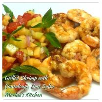 https://marinaohkitchen.wordpress.com/2014/05/06/grilled-shrimp-with-cantaloupe-lime-salsa/