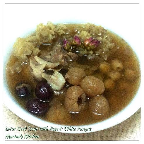 Lotus Seed Soup with Rose & White Fungus