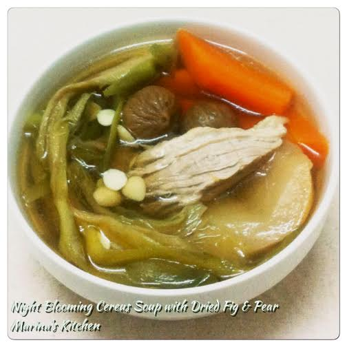 Night Blooming Cereus Soup with Dried Fig & Pear
