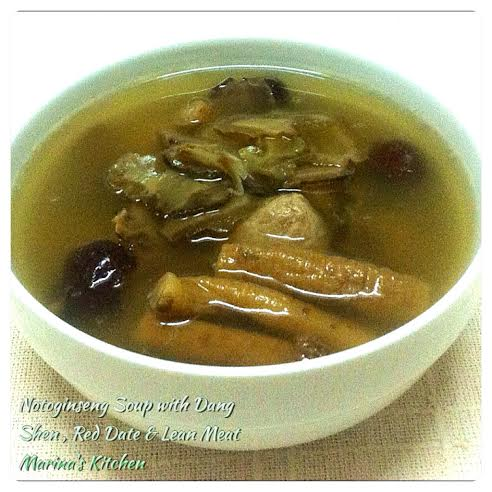 Notoginseng Soup with Dang Shen, Red Date & Lean Meat