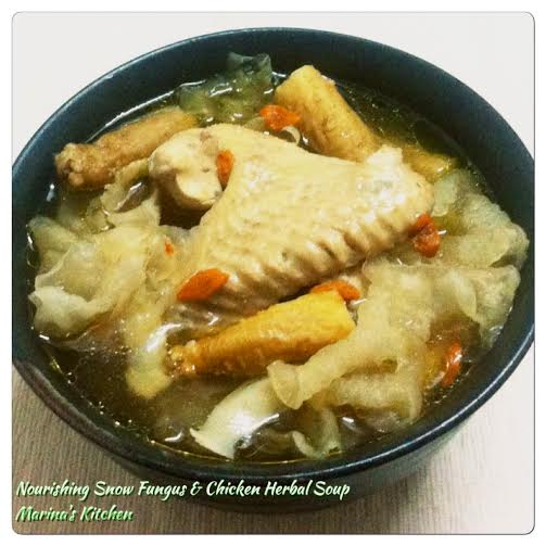 Nourishing Snow Fungus & Chicken Herbal Soup