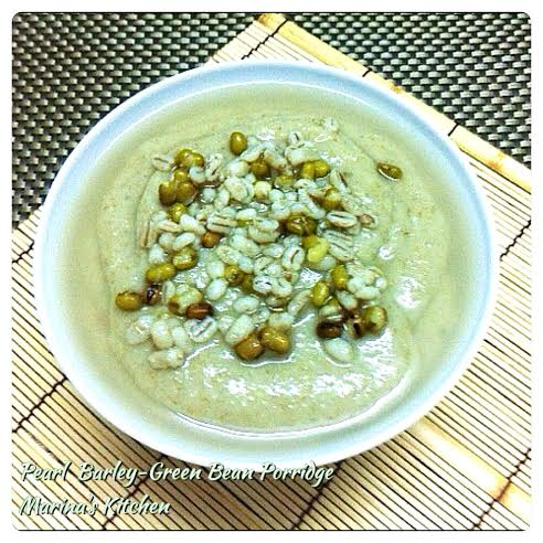 Pearl Barley-Green Bean Porridge