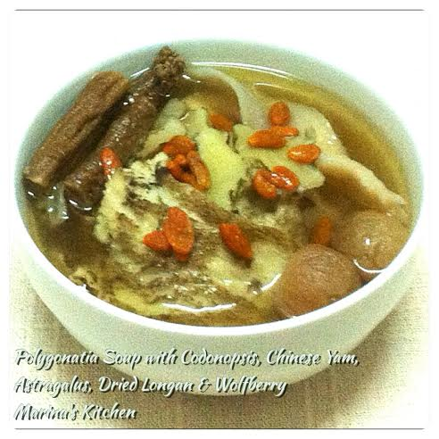 Polygonatia Soup with Codonopsis, Chinese Yam, Astragalus, Dried Longan & Wolfberry