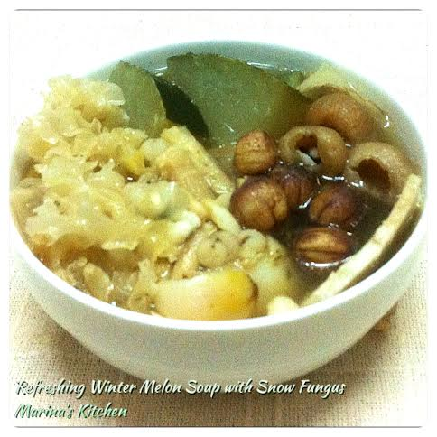 Refreshing Winter Melon Soup with Snow Fungus
