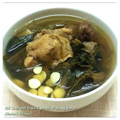 Rib Soup with Dried Vegetables & Honey Dates