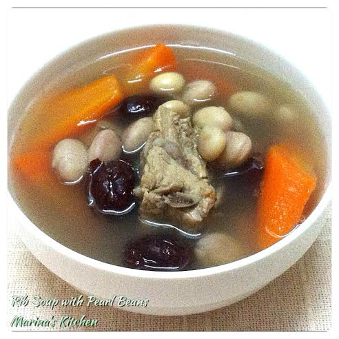 Rib Soup with Pearl Beans