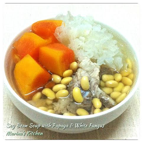 Soy Bean Soup with Papaya & White Fungus