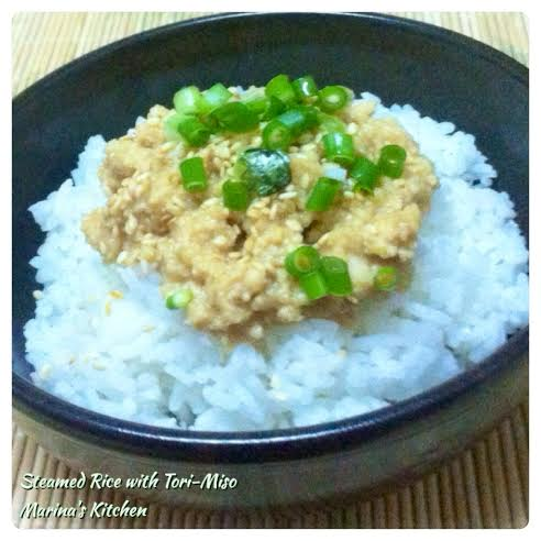 Steamed Rice with Tori-Miso