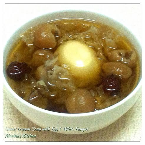 Sweet Longan Soup with Egg & White Fungus