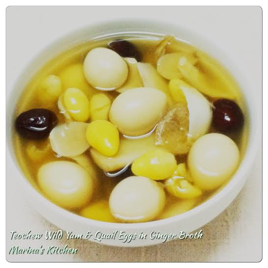 Teochew Wild Yam & Quail Eggs in Ginger Broth