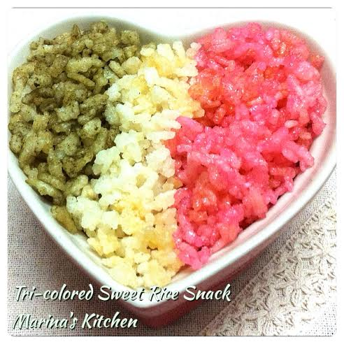 Tri-colored Sweet Rice Snack