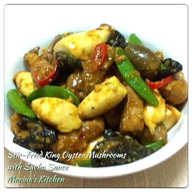 Stir-Fried King Oyster Mushrooms with Sacha Sauce