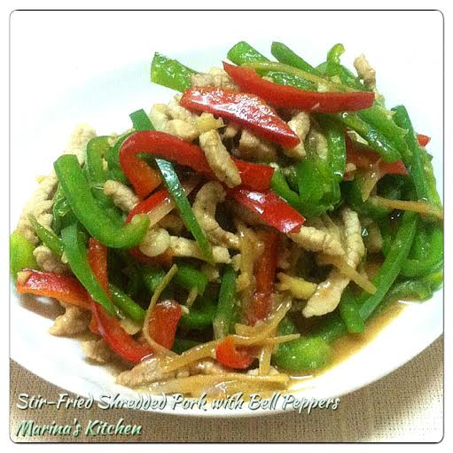 Stir-Fried Shredded Pork with Bell Peppers